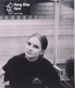Me. Circa 2004. Age 19. On public transit in Portland.